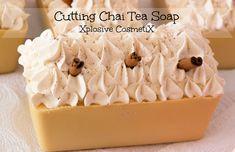 Cutting Chai Tea Cold Process Soap