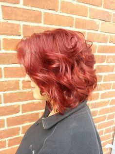 Summer Red♥ #hairstylist #Chicago #haircolor