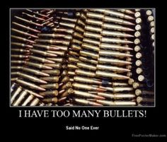 No one ever had too many bullets.