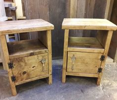 Wooden Pallet Furniture, Wooden Pallets, Industrial Furniture, Rustic Furniture, Diy Furniture, Handmade Bedside Tables, Woodworking Projects, Diy Projects, Scaffold Boards