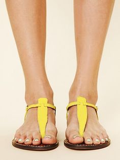 yellow sandals. free people.