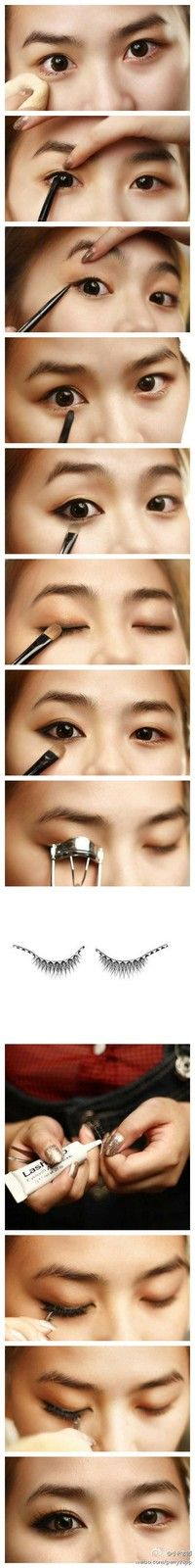 Asian make up-- or for girls w/ small or squinted eyes, how to brighten & enlarge