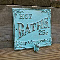 Wall Hook/ Aquamarine/ Bath Towel Rack/ Robe by AquaXpressions, $19.99