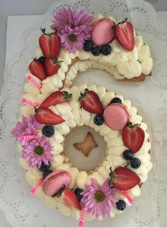 Narodeninová torta v tvare čísla