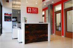 reception desk | reclaimed wood