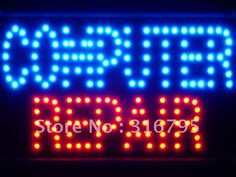 led034-b Computer Repair LED Neon Light Sign Whiteboard Wholesale Dropshipping