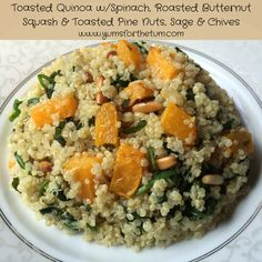 Toasted quinoa with spinach and butternut squash -  Georgia's Favorite - Amy's Organic Frozen meals makes the same but with black beans