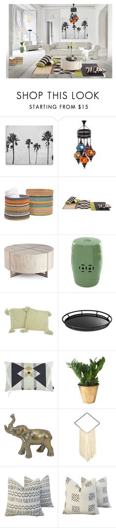 """""""Untitled #1069"""" by rachelbarkho ❤ liked on Polyvore featuring interior, interiors, interior design, home, home decor, interior decorating, Pigeon & Poodle, Eichholtz and SONOMA Goods for Life"""