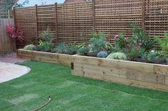 Image result for raised wooden beds Wooden Beds, Garden Office, Raised Beds, Raising, Garden Design, Garden Ideas, Gardens, Design Ideas, Yard
