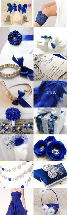 Royal blue wedding by Füsun Dokuz on Etsy--Pinned with TreasuryPin.com