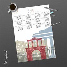 thepapeland 2018 Calendar. Athens modern calendar, minimal wall calendar. INSTANT DOWNLOAD. Link to the shop in the bio. #thepapeland #2018calendar #etsygreekteam #etsy #planner #art #print #digital #newyears