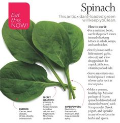 Spinach is a great powerhouse food - try making it into a dip with protein rich Better Whey of Life plain lowfat Greek yogurt.