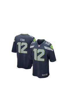 9f5591eae7f NFL Men s Seattle Seahawks Fan 12 College Navy Alternate  Game  Jersey.  Seahawks Gear