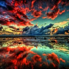 Red clouds