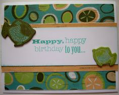 Happy Birthday Footloose Card Stamp, Scrap, Craft with Judy