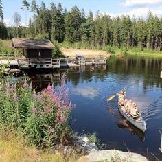 Hätteboda Vildmarks kampeerterrein Van Camping, Camping With Kids, Stuff To Do, Things To Do, Outdoor Cooking, Canoe, Glamping, Beautiful World, Adventure Travel