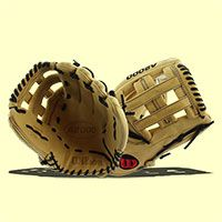 """The 2016 Wilson A2000 12.75"""" Baseball Glove (A20161799) comes with an H web which is perfect for catching fly balls in the outfield!"""