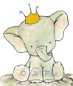 I totally love this! It reminds me of Babar :)