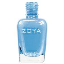 Zoya Nail Polish in Yummy - Bright, cheerful light robin's egg blue in a milky creme finish