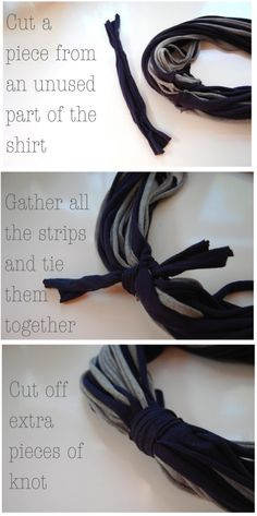 Something crafty I can actually Make! Upcycling T-shirt Scarf  add pin or shell to Band