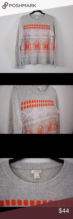 J Crew Geometric Fair Isle Sweater This is an incredibly soft, incredibly cute sweater!! Perfect for fall, winter, and springtime!  💥And is sold out online!! The sweater looks fantastic with jeans and some ankle booties or with a black skirt with a light jacket over the top!👍🏼 Make an offer or bundle to save!!!! 🛍 J. Crew Sweaters Crew & Scoop Necks