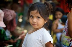 Beautiful girl from one of the slums in Cambodia