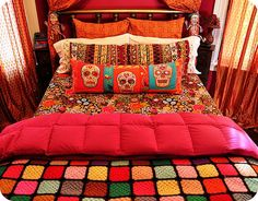 Dia de los Muertos style bedding