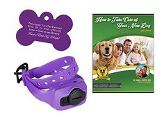 Dogtra iQ PURPLE Dog Bark Control Collar w/ Free Custom Dog Tag and E-Book (10 Levels - for Dogs 10 lbs and Up) ** Details can be found by clicking on the image. (This is an affiliate link and I receive a commission for the sales)