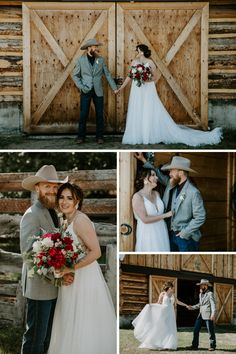 Barn wedding photos at this romantic country wedding. For more country wedding ideas take a look at this wedding for inspiration. Country Wedding Photos, Wedding Couple Photos, Country Barn Weddings, Bride And Groom Pictures, Country Wedding Dresses, Wedding Poses, Wedding Shoot, Wedding Couples, Wedding Ideas