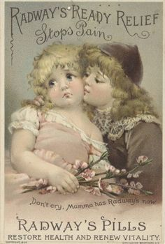 """Sweet image from The Feathered Nest Victorian Trade Card """"Radway's Pills"""" Vintage Labels, Vintage Ephemera, Vintage Cards, Vintage Paper, Images Vintage, Vintage Pictures, Vintage Prints, Vintage Posters, Decoupage"""