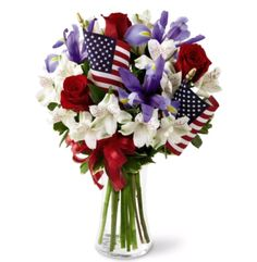 Memorial Day is Monday, May 28th! Honor the men and women who served with Patriotic flowers.