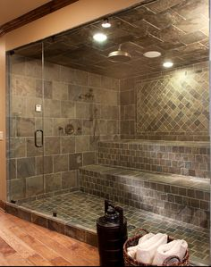 Yet another fabulous shower!! Too big for my house but, maybe I could scale it down a little....?