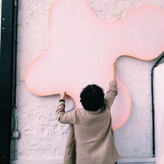 The beautiful and amazingly talented @alexandraroussopoulos in her Paris studio. #contemporaryart #art #artiststudio #thebaldwingallery #artgallery #parisart