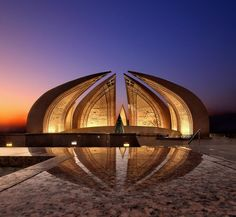 The Pakistan Monument is a national monument and heritage museum located on the Shakarparian Hills in Islamabad, Pakistan, aimed to symbolize national unity. The complex covers an area of hectares and is a popular picnic destination. Pakistan Zindabad, Pakistan Travel, Islamabad Pakistan, Islamic Architecture, Amazing Architecture, Landscape Architecture, Beautiful Buildings, Beautiful Places, Pakistan Pictures