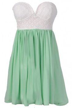 Mint bustier dress