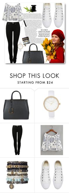 """""""New fashion warm rain days"""" by irmica-831 ❤ liked on Polyvore featuring Fendi, River Island, MM6 Maison Margiela and Converse"""