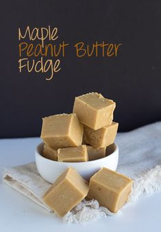Quick 4 ingredient maple peanut butter fudge. It's rich and incredibly creamy. Keep it in the fridge for freshness and firmness! You need this simple recipe