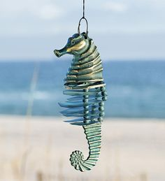 Seahorse Wind Chime - Nautical Patio Accent  http://thegardeningcook.com/seahorse-wind-chime-nautical-patio-accent/