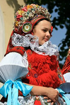 "Moravian ""Ride of Kings"" Festival, Czech Republic. I know its slot to take in. but now you see where I get my dramatic flare. Folk Costume, Costumes, European Dress, Heart Of Europe, Ethnic Dress, Czech Republic, Traditional Dresses, Textiles, Beautiful People"
