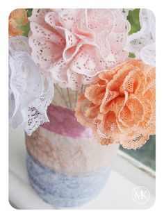Lace + Flowers=brilliant