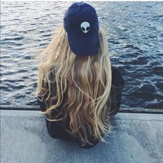 Brandy Melville blue alien patch Katherine cap Nwt Brandy Melville Accessories Hats