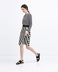 Image 1 of STRIPED SARONG SKIRT from Zara
