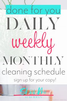 Finally keep your house clean (even if you only have 30 minutes a day! Struggling to keep your house clean? The Monthly Cleaning Checklist is your plan to keep your whole Bathroom Cleaning Checklist, Monthly Cleaning Schedule, Deep Cleaning Checklist, Cleaning Fun, Game Organization, Organizing, Homekeeping, Organized Entryway, Organized Bedroom