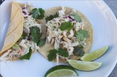 Smoky Chicken Tacos: Leftover coleslaw? Leftover cooked chicken? With just a few more ingredients you can make delicious Smoky Chicken Tacos is in less than 5 minutes!    Chicken and coleslaw in a wrap would normally taste like like any other chicken wrap, but by adding these 2 powerhouse flavours, it brings out that smoky Mexican-South of the Border taste.