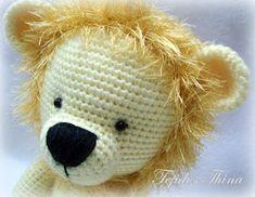 leon amigurumi tejidos thina Lions, Giraffe, Panda, Needlework, Projects To Try, Crochet Hats, Teddy Bear, Kitty, Knitting