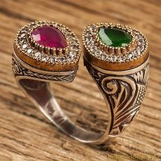 Hurrem Sultan Хюррем Султан Ring Emerald & Ruby Color Ottoman Jewellery 925SS