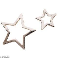 Compra nuestros productos a precios mini Set de colgantes Estrellas de metal - Plateado - 2 uds - Entrega rápida, gratuita a partir de 89 € !