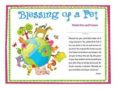 blessing of the animals certificate template - Google Search