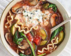Soupe végétarienne lasagne