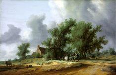 The Athenaeum - Road in the Dunes with a Passanger Coach (Salomon van Ruysdael - )